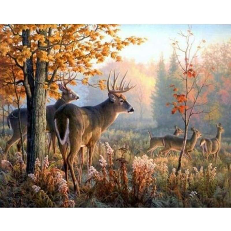 New Hot Sale Deer Wall Decor Full Drill - 5D Diy Diamond Painting Kits VM9100 - NEEDLEWORK KITS