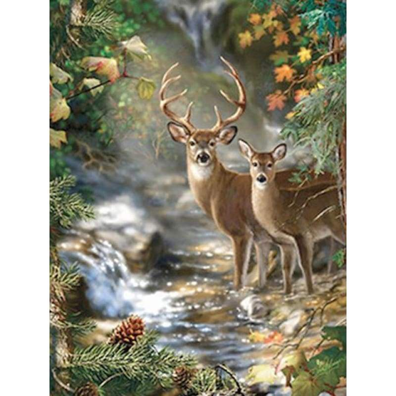 New Hot Sale Dream Animal Deer Full Drill - 5D Diy Diamond Painting Kits VM8935 - NEEDLEWORK KITS