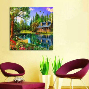 New Hot Sale Dream Cottage Full Drill - 5D Diy Diamond Painting Kits VM8381 - NEEDLEWORK KITS