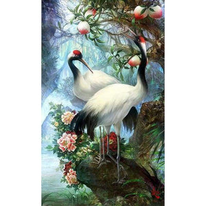 New Hot Sale Dream Red Crowned Crane Full Drill - 5D DIY Diamond Painting Kits VM8191 - NEEDLEWORK KITS