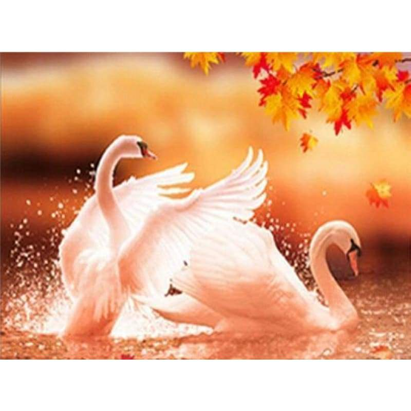 2019 New Hot Sale Elegant Swan Lover Diamond Cross Stitch Kits VM2002 - 3