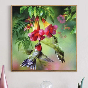 New Hot Sale Embroidery Wall Decor Full Drill - 5D Diy Diamond Painting Flower And Bird Kits VM7867 - NEEDLEWORK KITS