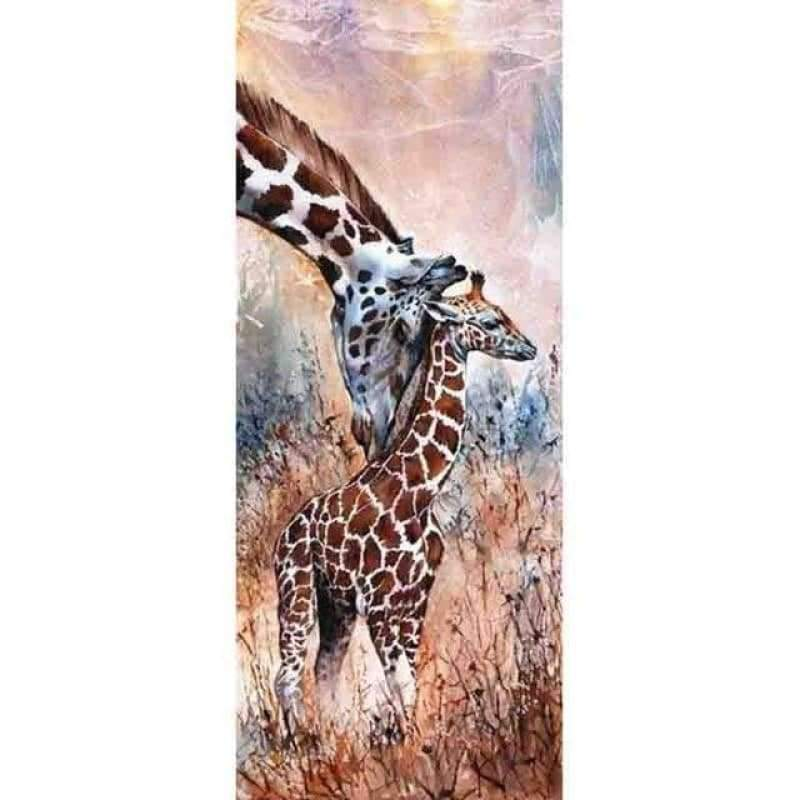 New Hot Sale Full Drill - 5D Diy Diamond Painting Giraffe Kits VM3556 - NEEDLEWORK KITS