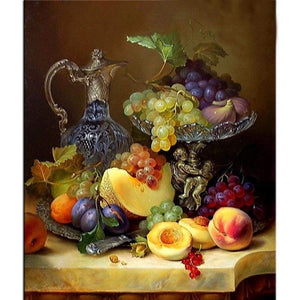 New Hot Sale Fruit And Wine Full Drill - 5D Resin Diamond Painting VM8608 - NEEDLEWORK KITS