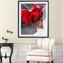 Load image into Gallery viewer, New Hot Sale Full Square Red Rose Full Drill - 5D Diy Diamond Painting Flowers VM2003 - NEEDLEWORK KITS