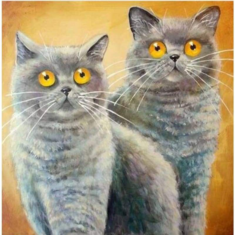 New Hot Sale Funny Cats Full Drill - 5D DIY Diamond Painting Kits VM37034 - NEEDLEWORK KITS