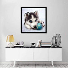 Load image into Gallery viewer, 2019 New Hot Sale Funny Dog And Baseball 5d Diy Diamond Painting Dog Kits VM3009