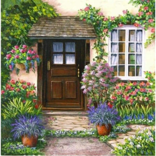 2019 New Hot Sale Garden Door Picture Diy 5d Diamond Painting Kits VM20095