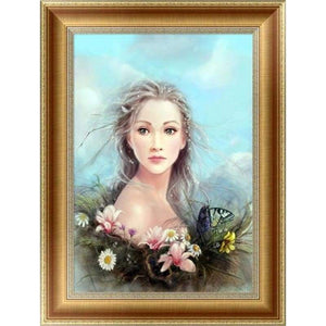 2019 New Hot Sale Home Decorate Girl Portrait 5d Diy Diamond Painting Kits VM4123 - 444