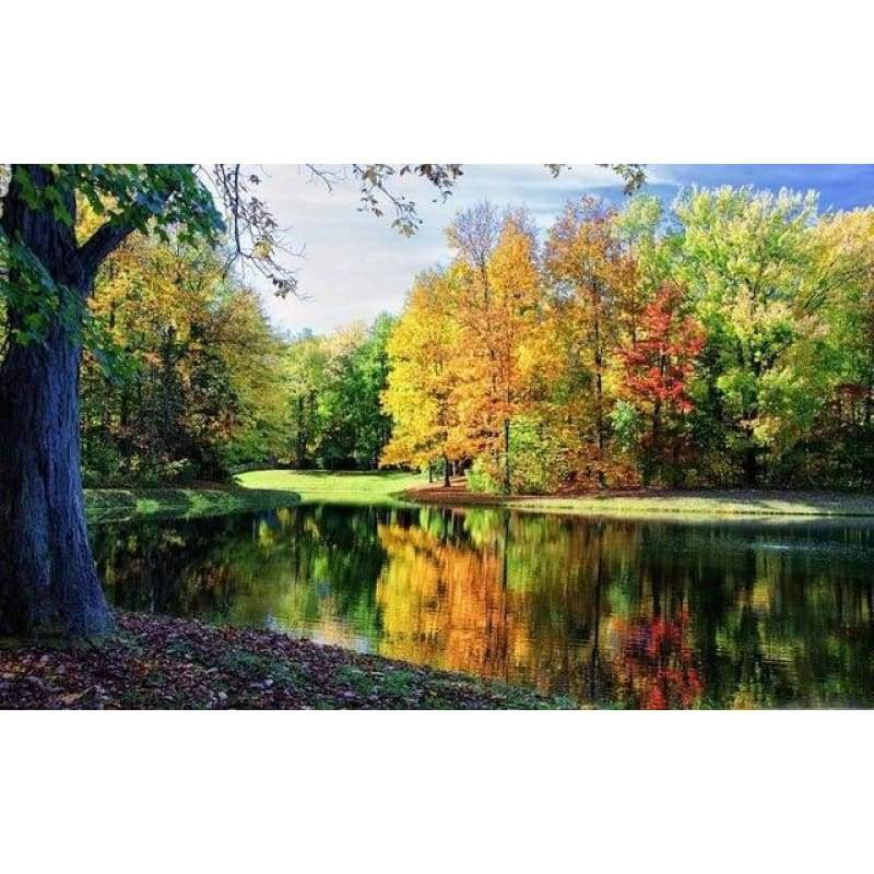 New Hot Sale Lake Forest Landscape Diy Full Drill - 5D Diamond Painting VM1227 - NEEDLEWORK KITS