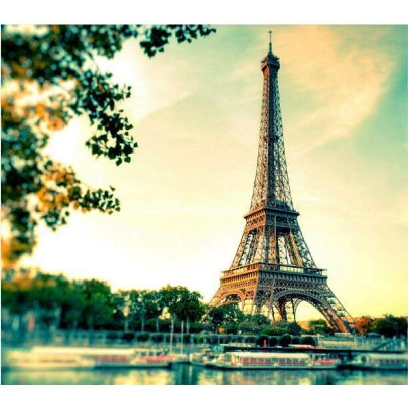 New Hot Sale Landscape Eiffel Tower Full Drill - 5D Diy Diamond Painting Kits VM9406 - NEEDLEWORK KITS