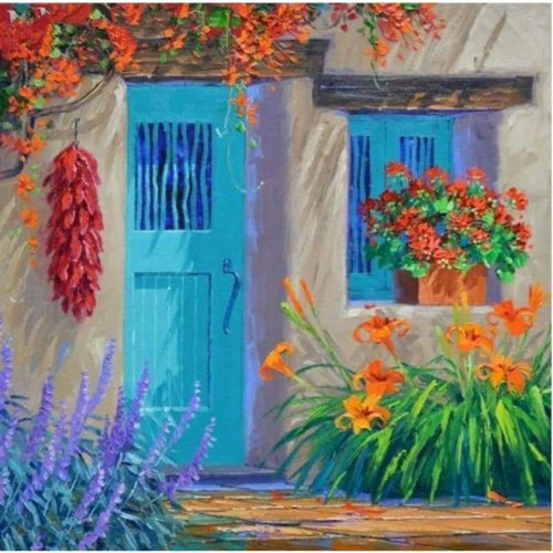2019 New Hot Sale Landscape Garden Door Diy 5d Diamond Painting Set VM39091
