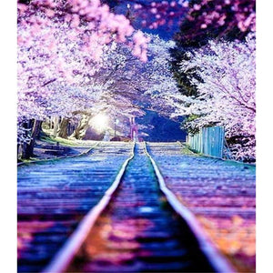 New Hot Sale Landscape Nature Train Road Full Drill - 5D Diy Diamond Painting Kits VM9018 - NEEDLEWORK KITS
