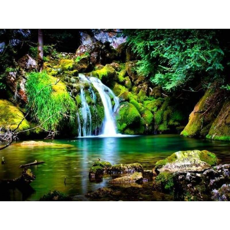 New Hot Sale Landscape Waterfall Full Drill - 5D Diy Diamond Painting Kits VM9153 - NEEDLEWORK KITS