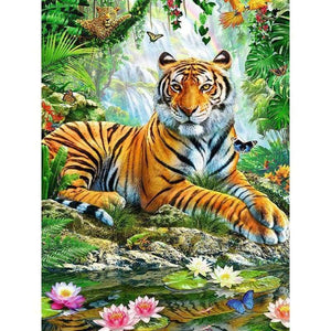 2019 New Hot Sale Mighty Natural 5d Diy Diamond Painting Tiger VM1998 - 3