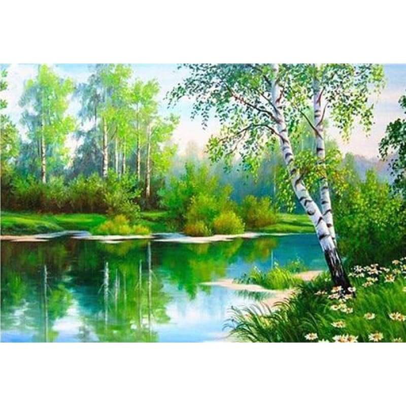 2019 New Hot Sale Natural Scenery 5d Diy Diamond Cross Stitch VM1209 - NEEDLEWORK KITS