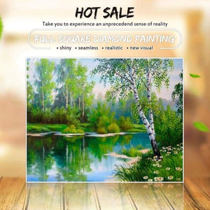 2019 New Hot Sale Nature Landscape 5d Diy Mosaic Cross Stitch VM1177 - 3