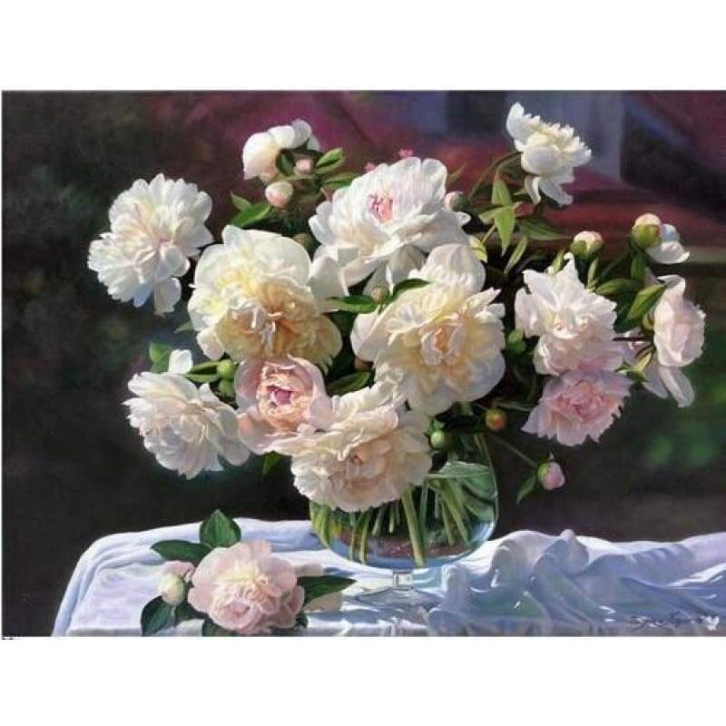 2019 New Hot Sale Peony Flowers 5d Diy Square Diamond Painting Kits VM9435 - 3