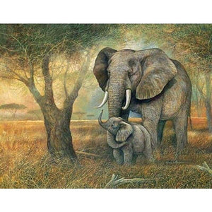New Hot Sale Photo Dream Elephant Full Drill - 5D Diy Diamond Painting Kits VM9065 - NEEDLEWORK KITS
