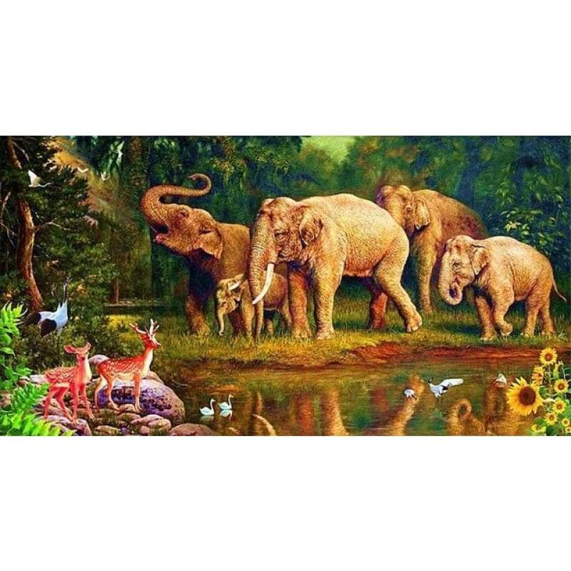 New Hot Sale Photo Elephant Full Drill - 5D Diy Diamond Painting Kits VM9060 - NEEDLEWORK KITS