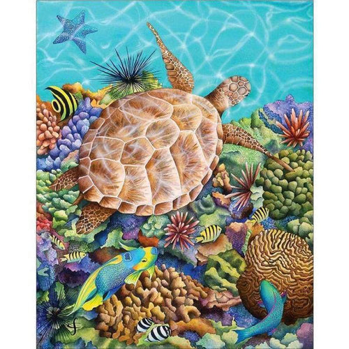 2019 New Hot Sale Sea Turtle Pattern Diy 5d Crystal Diamond Painting Kits QB0051 - 3