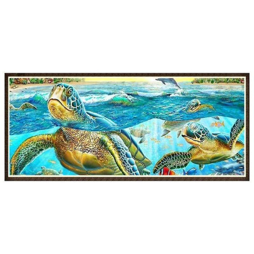 2019 New Hot Sale Sea Turtle Pattern Diy 5d Crystal Diamond Painting Kits QB0055 - 9