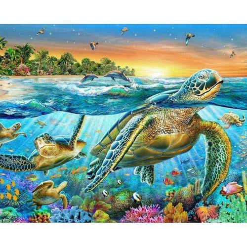 2019 New Hot Sale Sea Turtle Pattern Diy 5d Crystal Diamond Painting Kits VM20052 - 2