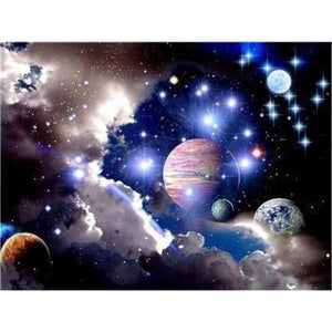 New Hot Sale Space Star Wall Decor Full Drill - 5D Diy Diamond Painting Kits VM7885 - NEEDLEWORK KITS