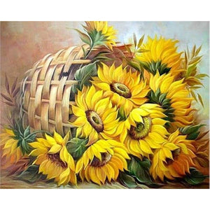 New Hot Sale Sunflower Picture Diamond Painting Cross Stitch Kits VM7541 - NEEDLEWORK KITS