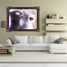 Load image into Gallery viewer, 2019 New Hot Sale Two Cats Lovers 5d Diamond Painting Cross Stitch Kits VM0091 - 3