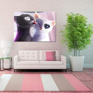 2019 New Hot Sale Two Cats Lovers 5d Diamond Painting Cross Stitch Kits VM0091 - 3