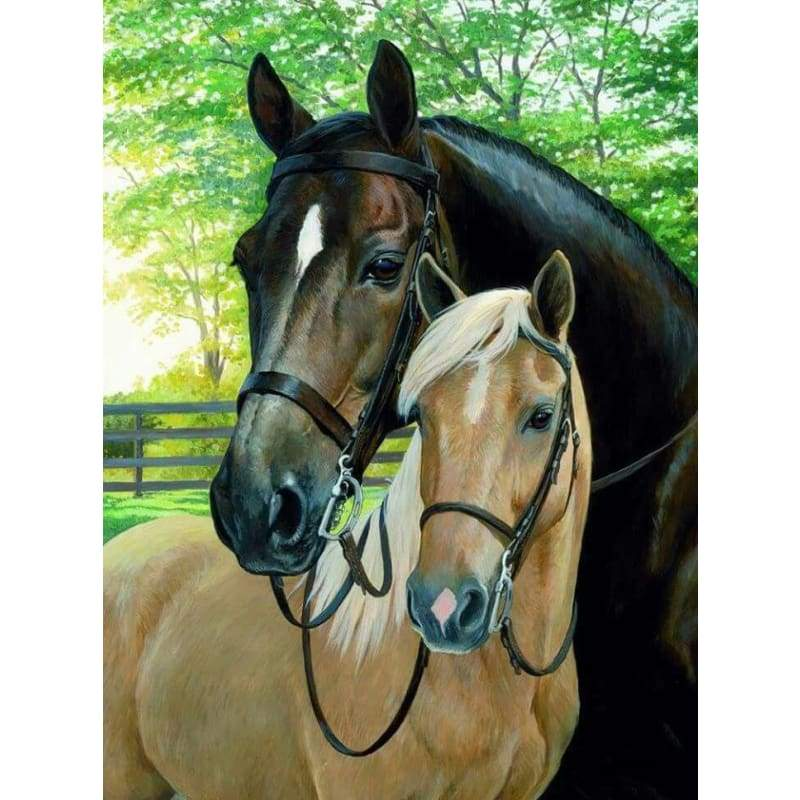 New Hot Sale Two horse Love Wall Decor Full Drill - 5D Diy Diamond Painting Kits VM8583 - NEEDLEWORK KITS