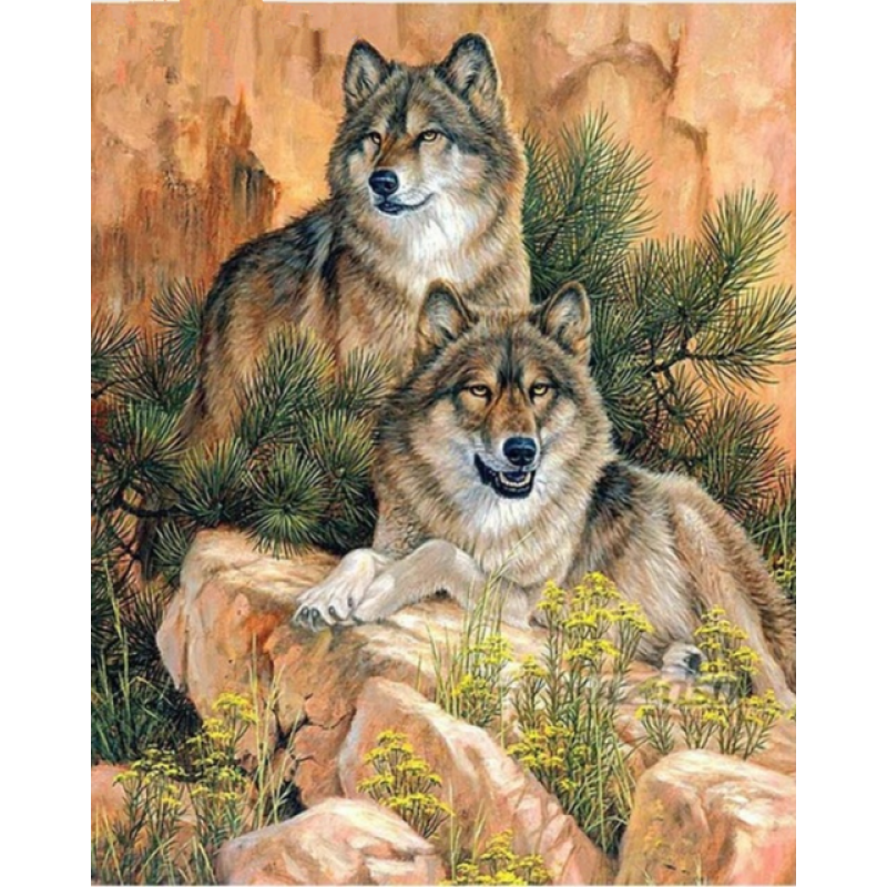 New Hot Sale Various Sizes Full Drill - 5D Diy Diamond Painting Wolf Kits VM8633 - NEEDLEWORK KITS