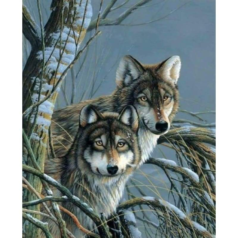 New Hot Sale Various Sizes Full Drill - 5D Diy Diamond Painting Wolf Kits VM8634 - NEEDLEWORK KITS