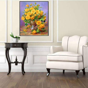 2019 New Hot Sale Wall Decor 5d Diy Diamond Painting Kits Flowers VM4013 - 3