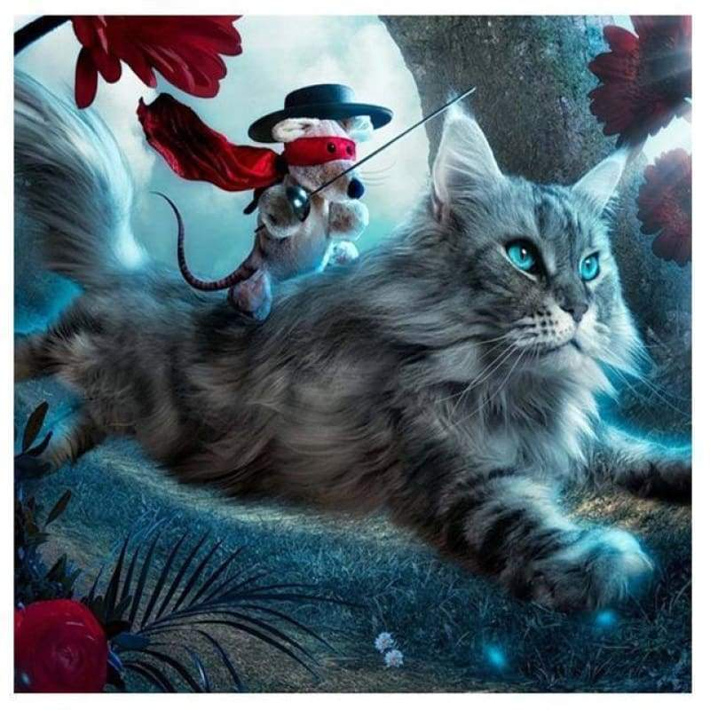 2019 New Hot Sale Wall Decor Cute Cat 5d Diy Diamond Painting Kits VM4113