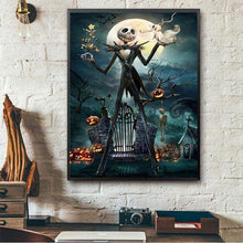 Load image into Gallery viewer, 2019 New Hot Sale Wall Decor Halloween 5d Diy Rhinestone Stitch Kits VM48087 - 4