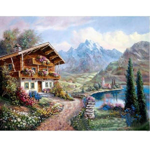 2019 New Hot Sale Wall Decor Landscape Nature Mountain 5d Diy Diamond Painting Kits VM4098 - 3