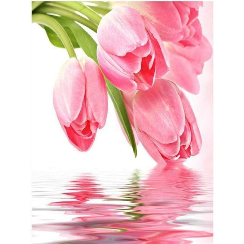 2019 New Hot Sale Wall Decor Pink 5d Diy Diamond Painting Kits Flowers VM4009 - 4