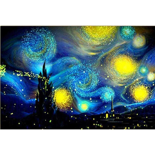 2019 New Large Size Abstract Sky Space 5d Diy Diamond Painting Kits VM9703 - 4