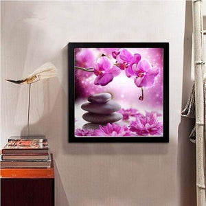 New Popular Violet Flower Full Drill - 5D Diy Diamond Painting Kits VM04205 - NEEDLEWORK KITS