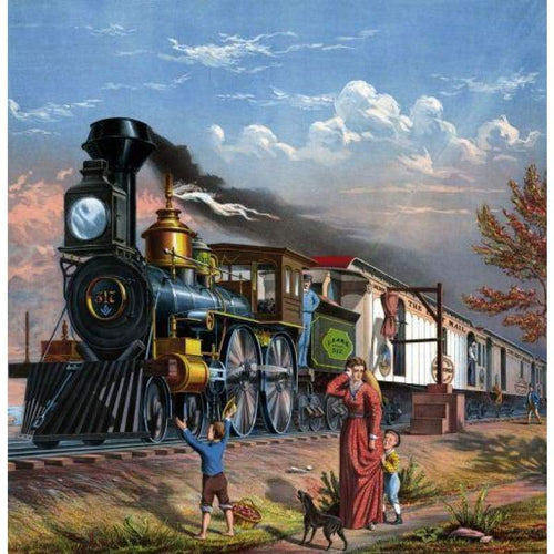 New Train Full Drill - 5D DIY Embroidery  Diamond Painting Kits NB0111 - NEEDLEWORK KITS