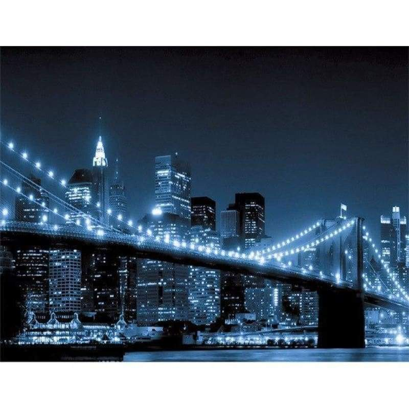 2019 New Wall Decor City Bridge 5d Diy Diamond Painting Cross Stitch Kits City VM3664 - 2