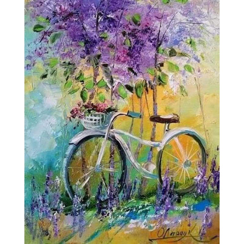 2019 Oil Painting Bicycle 5D DIY Cross Stitch Diamond Painting Kits NB0057 - 3
