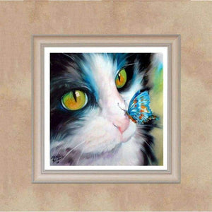Oil Painting Style Cat Pattern Full Drill - 5D Diy Crystal Painting Kits VM7321 - NEEDLEWORK KITS