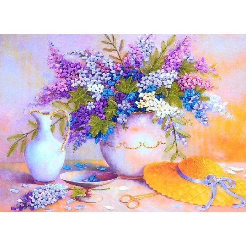 2019 Oil Painting Style Colorful 5d Diy Diamond Painting Flower Kits VM3568 - 4