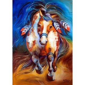 Oil Painting Style Colorful Horse Close Up Full Drill - 5D Diamond Painting Kits VM1047 - NEEDLEWORK KITS