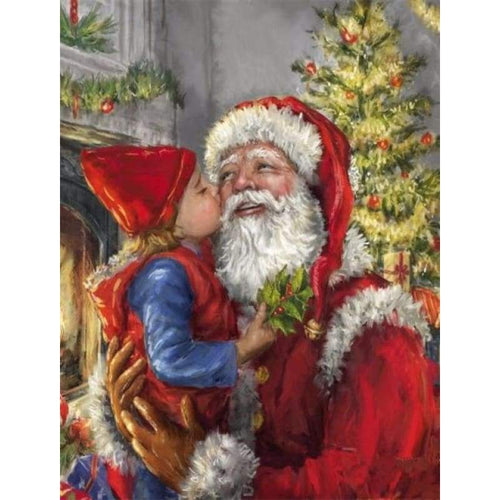 2019 Oil Painting Style Full Drill Santa Claus 5d Diy Diamond Painting Kits NA00369 - 3