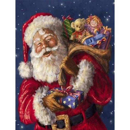 2019 Oil Painting Style Full Round Drill Santa Claus 5d Diy Diamond Painting Kits NA0366 - 3