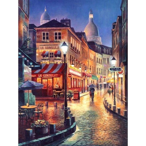 2019 Oil Painting Style Landscape Street 5d Diy Diamond Painting Kits VM8120 - 4